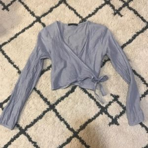 Brandy Melville Long Sleeve Wrap Crop Top!